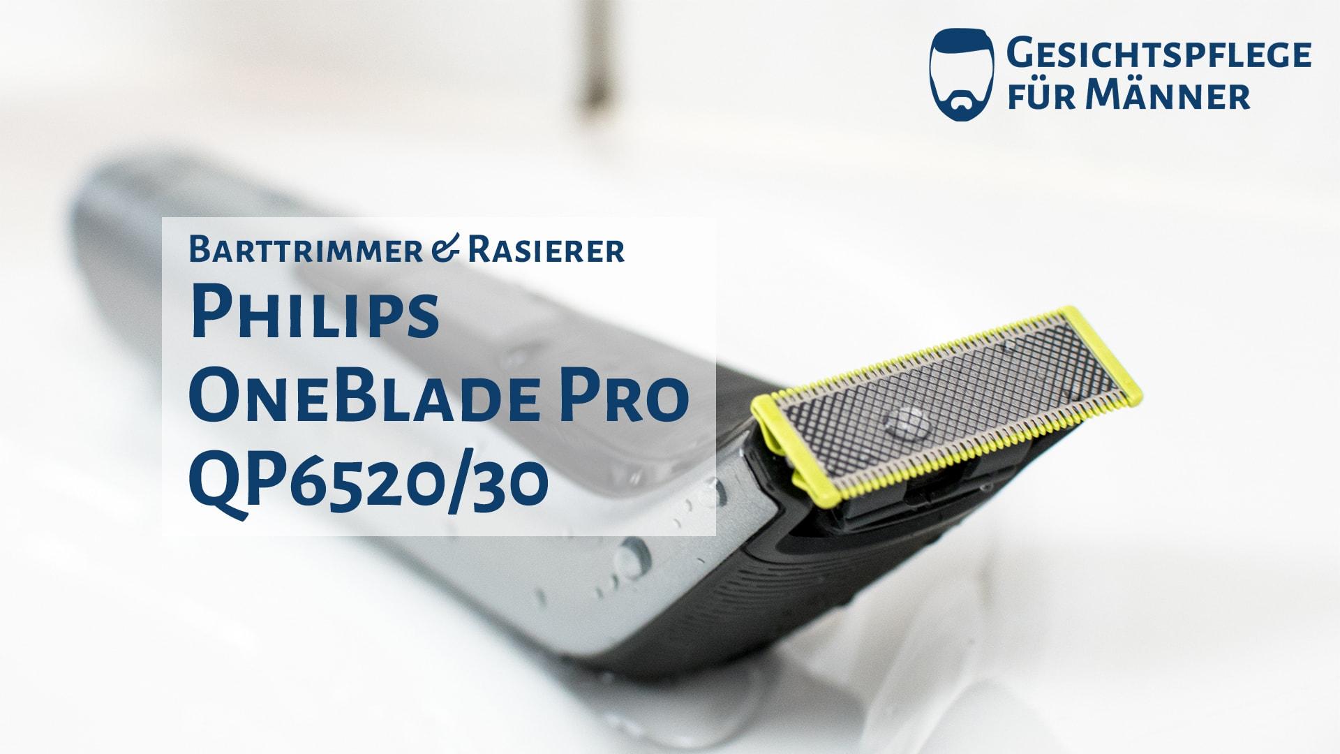 Das Titelbild zum Testbericht des Philips OneBlade Pro