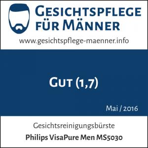 Testsiegel zur Philips VisaPure Men MS5030 Gesichtsreinigungsbürste